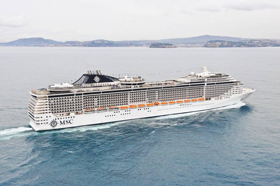 Com capacidade para 4.363 hóspedes, MSC Fantasia é o maior navio da temporada