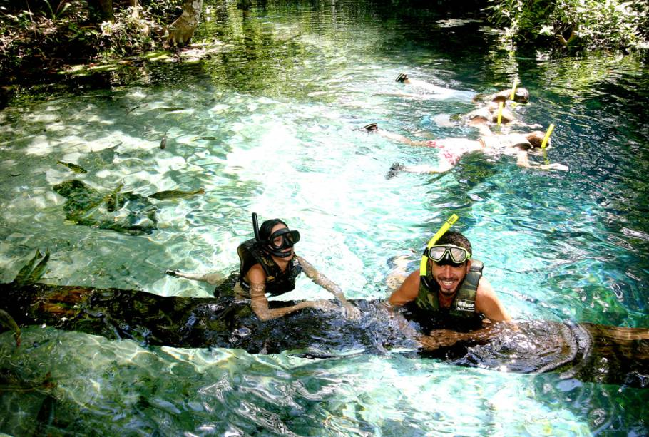 Não é só Bonito (MS) que encanta com seus rios cristalinos. Nobres (MT) também é bastante procurada para mergulho e flutuação