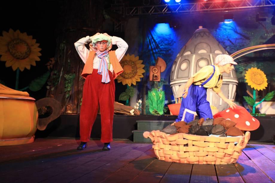 Espetáculo O Mundo Encantado da Páscoa, durante a Chocofest, em Gramado