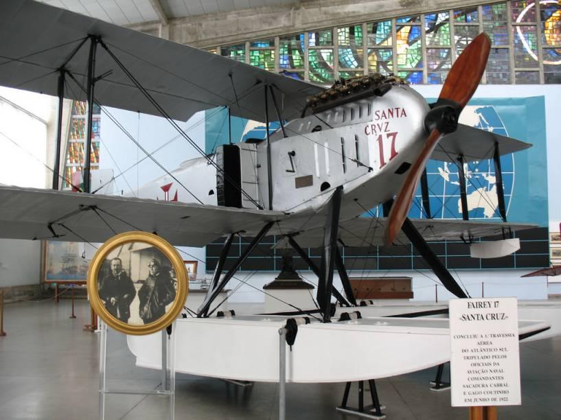 Museu da Marinha: o hidroavião que fez a pioneira travessia do Atlântico Sul