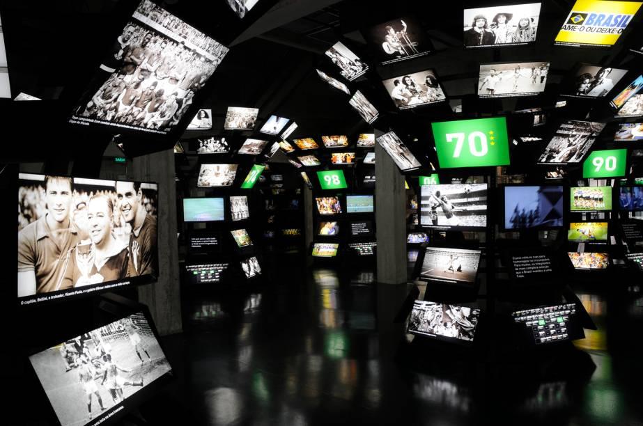 """<strong>5. <a href=""""http://viajeaqui.abril.com.br/estabelecimentos/br-sp-sao-paulo-atracao-museu-do-futebol"""" rel=""""Museu do Futebol"""" target=""""_self"""">Museu do Futebol</a>, <a href=""""http://viajeaqui.abril.com.br/cidades/br-sp-sao-paulo"""" rel=""""São Paulo"""" target=""""_self"""">São Paulo</a>, <a href=""""http://viajeaqui.abril.com.br/estados/br-sao-paulo"""" rel=""""SP"""" target=""""_self"""">SP</a></strong>                    A localização não poderia ser mais estratégica: o museu está instalado sob as arquibancadas do Estádio do Pacaembu. A experiência é válida tanto para os amantes do esporte como pra quem só quer conhecer as instalações interativas, com tecnologia de primeira"""