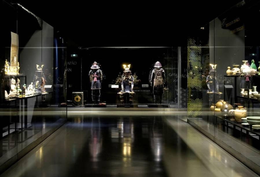 Armaduras samurai fazem parte do precioso acervo do Museu do Oriente
