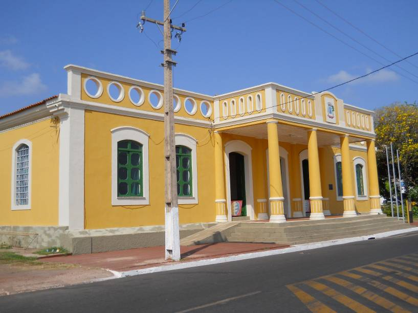 """Fachada do Museu João Fona, em <a href=""""http://viajeaqui.abril.com.br/cidades/br-pa-santarem"""" rel=""""Santarém (PA)"""" target=""""_blank"""">Santarém (PA)</a>; ali são exibidas peças importantes da cerâmica tapajônica"""