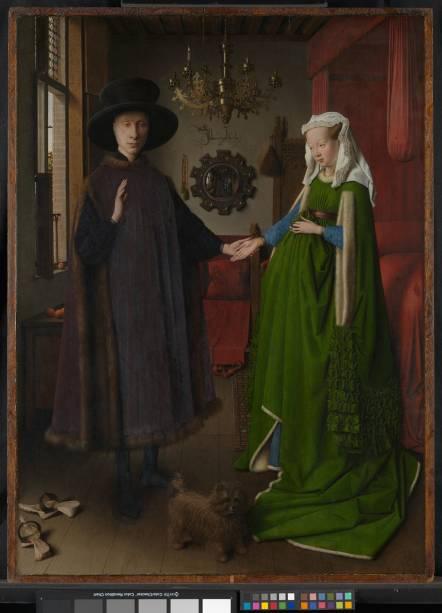 Retrato do Casal Arnolfini (detalhe), de Jan van Eyck (1434)