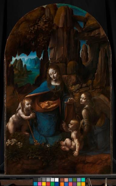 Detalhe de <em>A Virgem dos Rochedos</em>, Leonardo da Vinci, National Gallery