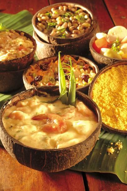 Alguns dos pratos do bufê do restaurante <strong>Mangai</strong>
