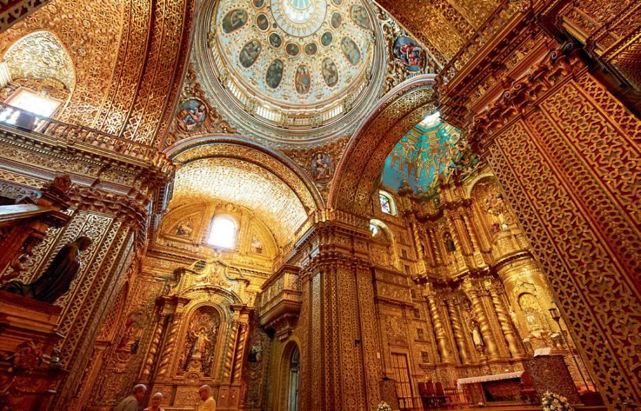 Ouro da Iglesia La Compañia de Jesús, em Quito