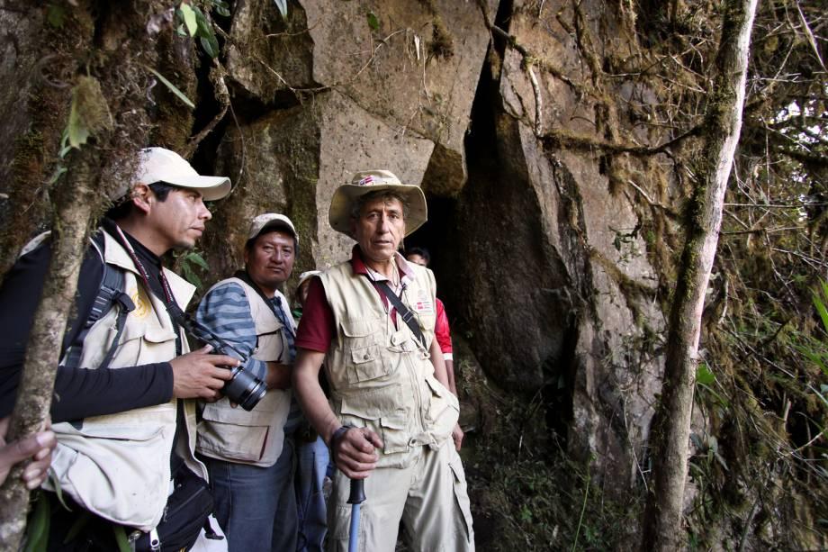 Fernando Astete e pesquisadores no Parque Nacional de Machu Picchu