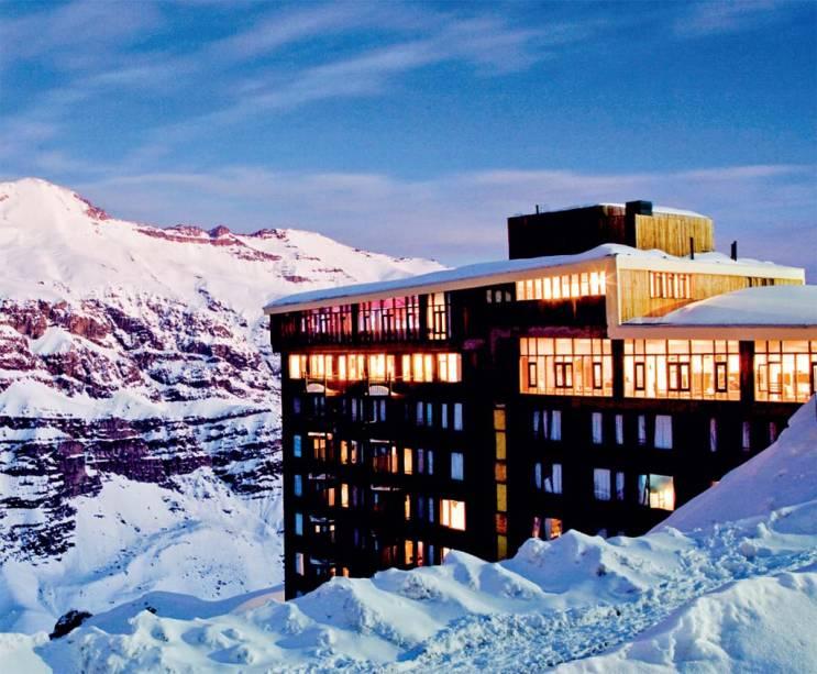 O Hotel Tres Puntas, um dos três de Valle Nevado