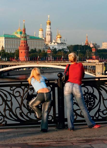O Kremlin ao fundo