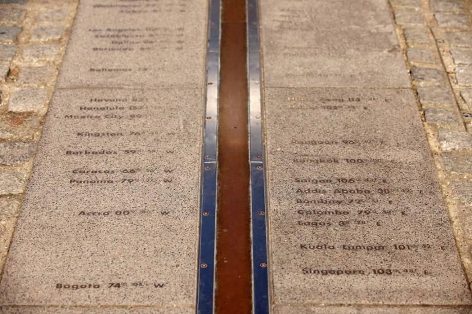 O Meridiano de Greenwich é o marco que determina o padrão horário em todo o planeta