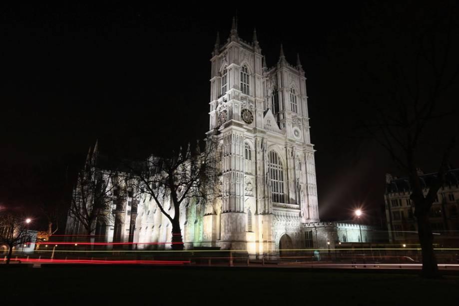 A Abadia de Westminster, Londres, já foi palco de grandes momentos da monarquia britânica, como coroações e o recente casamento do Príncipe William com Kate Middleton