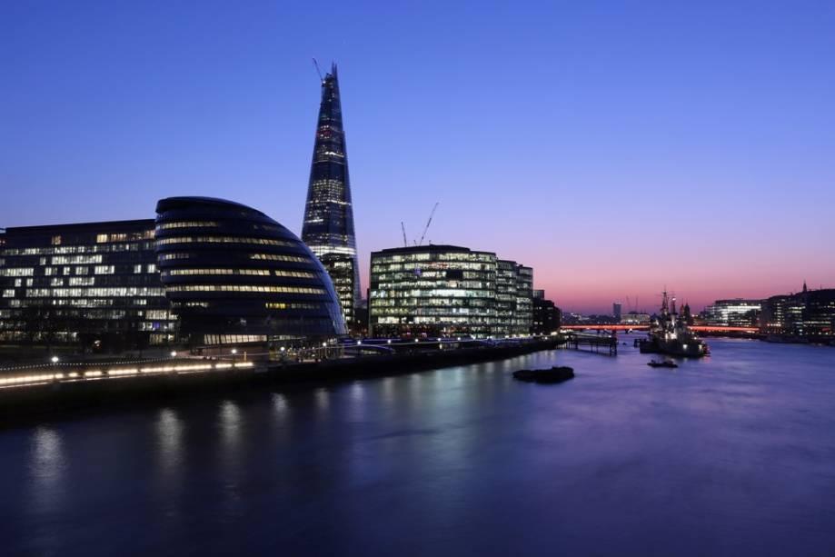 Com 310 metros de altura, o The Shard é não somente o maior edifício de Londres como de toda Europa