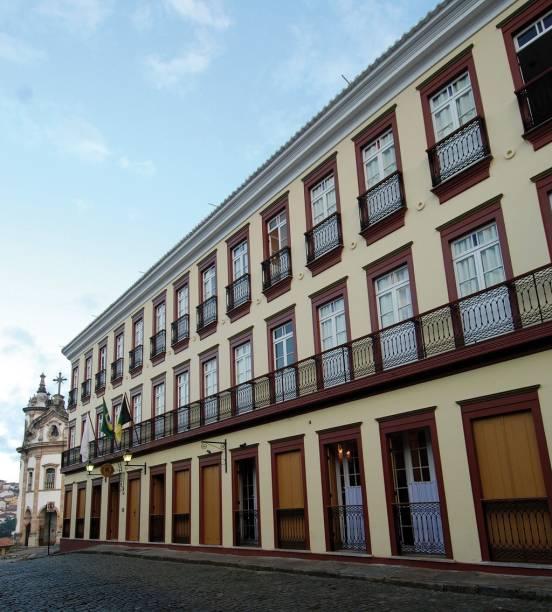 """Casarão do <a href=""""http://viajeaqui.abril.com.br/estabelecimentos/br-mg-ouro-preto-hospedagem-solar-do-rosario"""" rel=""""Hotel Solar do Rosário"""" target=""""_blank"""">Hotel Solar do Rosário</a>, em Ouro Preto (MG)"""