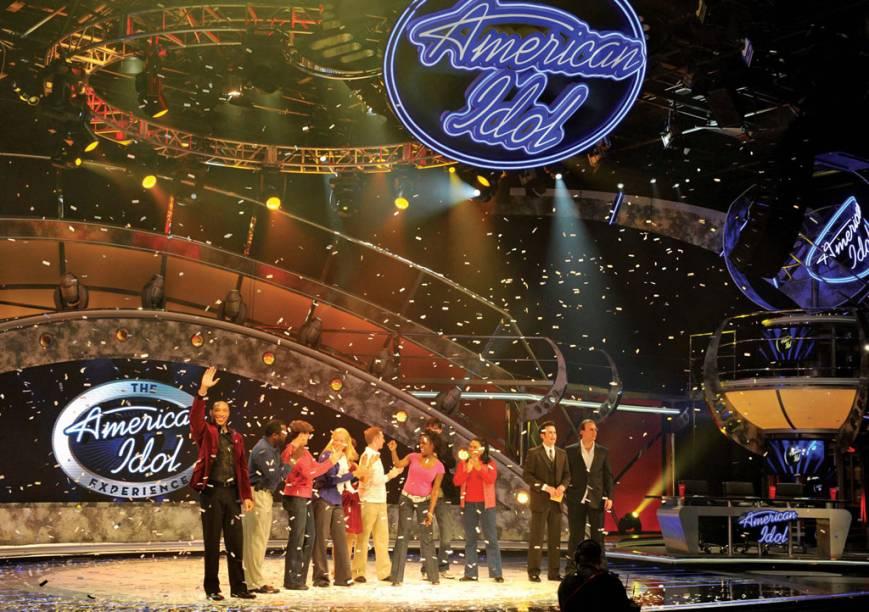 Apresentação no American Idol Experience, no Disneys Hollywood Studios. A Atração oferece a chance de assistir, apresentar-se e até votar nos cantores preferidos