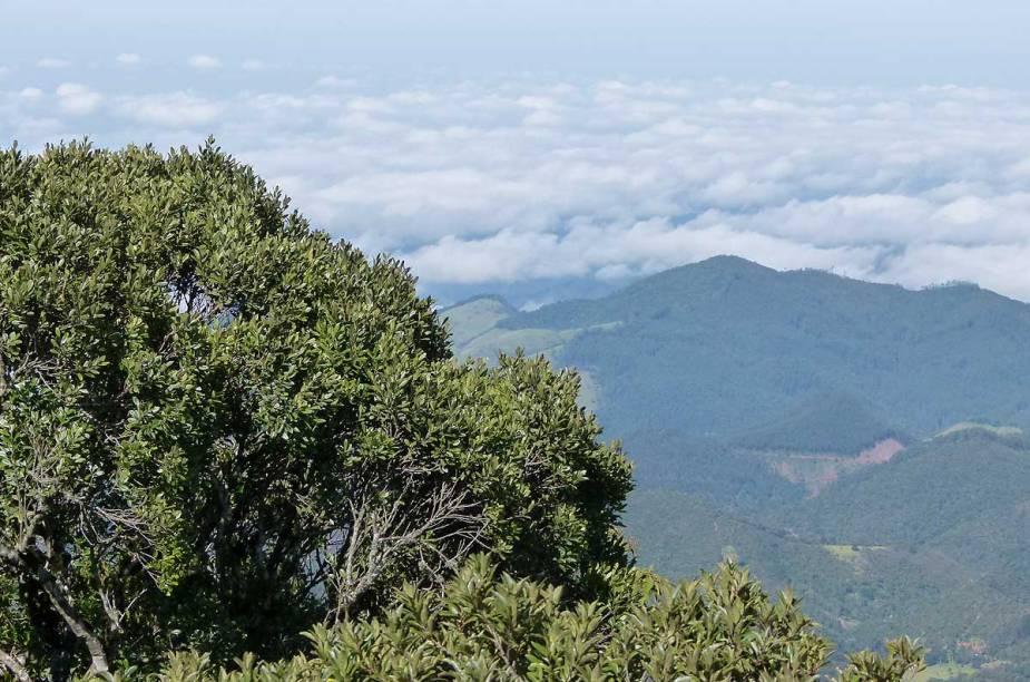 Quando as nuvens permitem, também é possível ver a cidade de São José dos Campos (SP), que fica ali pertinho