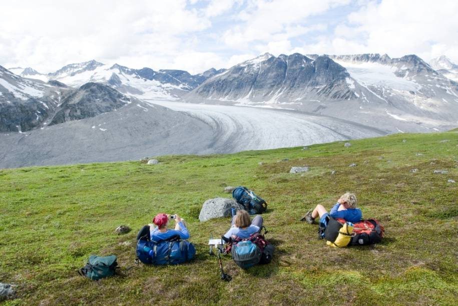 Chuck Creek Trail próximo à geleira Samuel Glacier, no Tatshenshini-Alsek Provincial Park