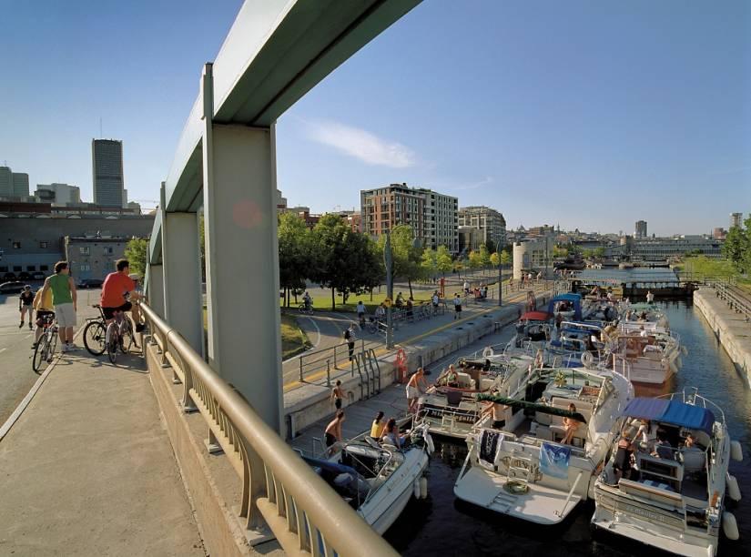 Canal Lachine, um sítio histórico em Montreal