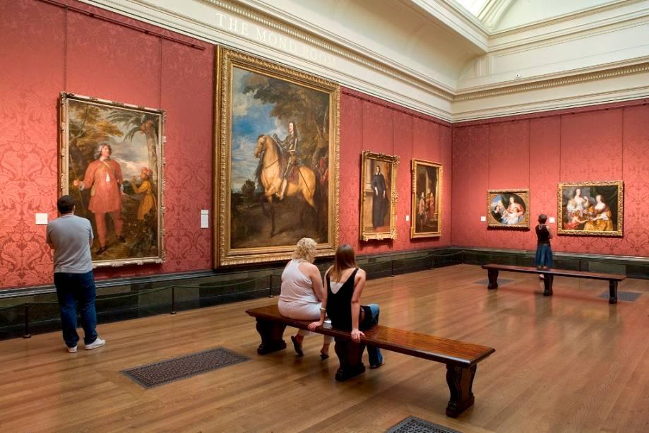 Interior da National Gallery de Londres, uma das melhores pinacotecas do mundo