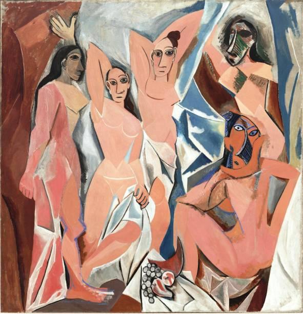 Les demoiselles dAvignon (detalhe), de Pablo Picasso, no MoMA