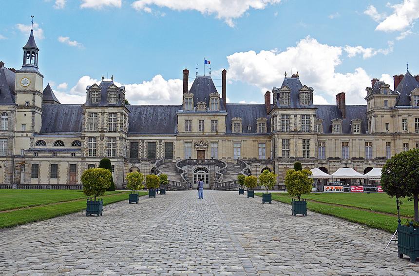 Fachada do Palácio de Fontainebleau