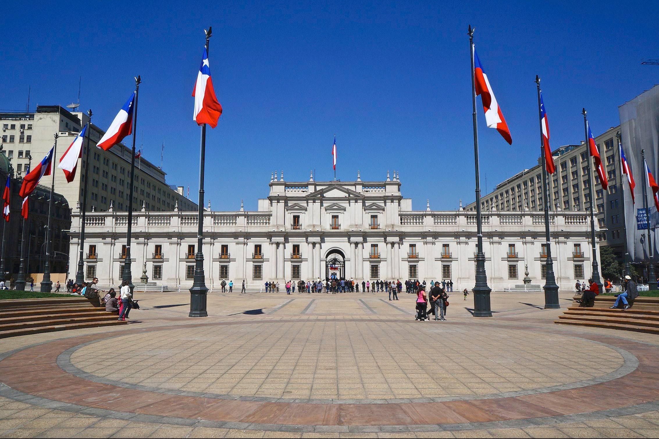 Palacio de La Moneda, em Santiago, no Chile