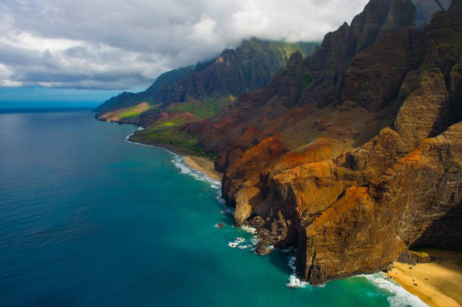 Pali Coast, na ilha de Kauai, Havaí