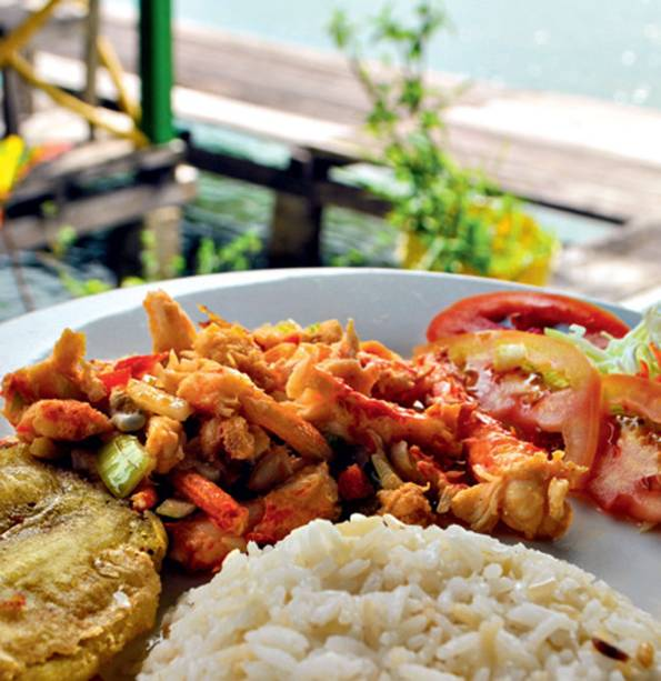 A lagosta fresca em Bocas