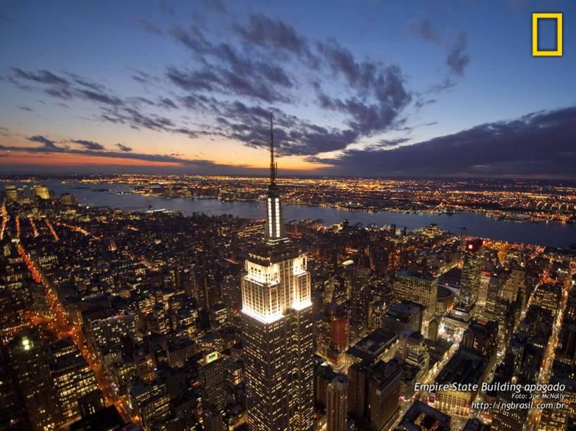 Na cidade que nunca dorme, a consciência em relação à energia significa que o Empire State Building só usa luzes brilhantes nas noites de celebração de feriados e eventos especiais