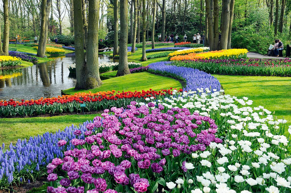 Parque Keukenhof, em Lisse, Holanda