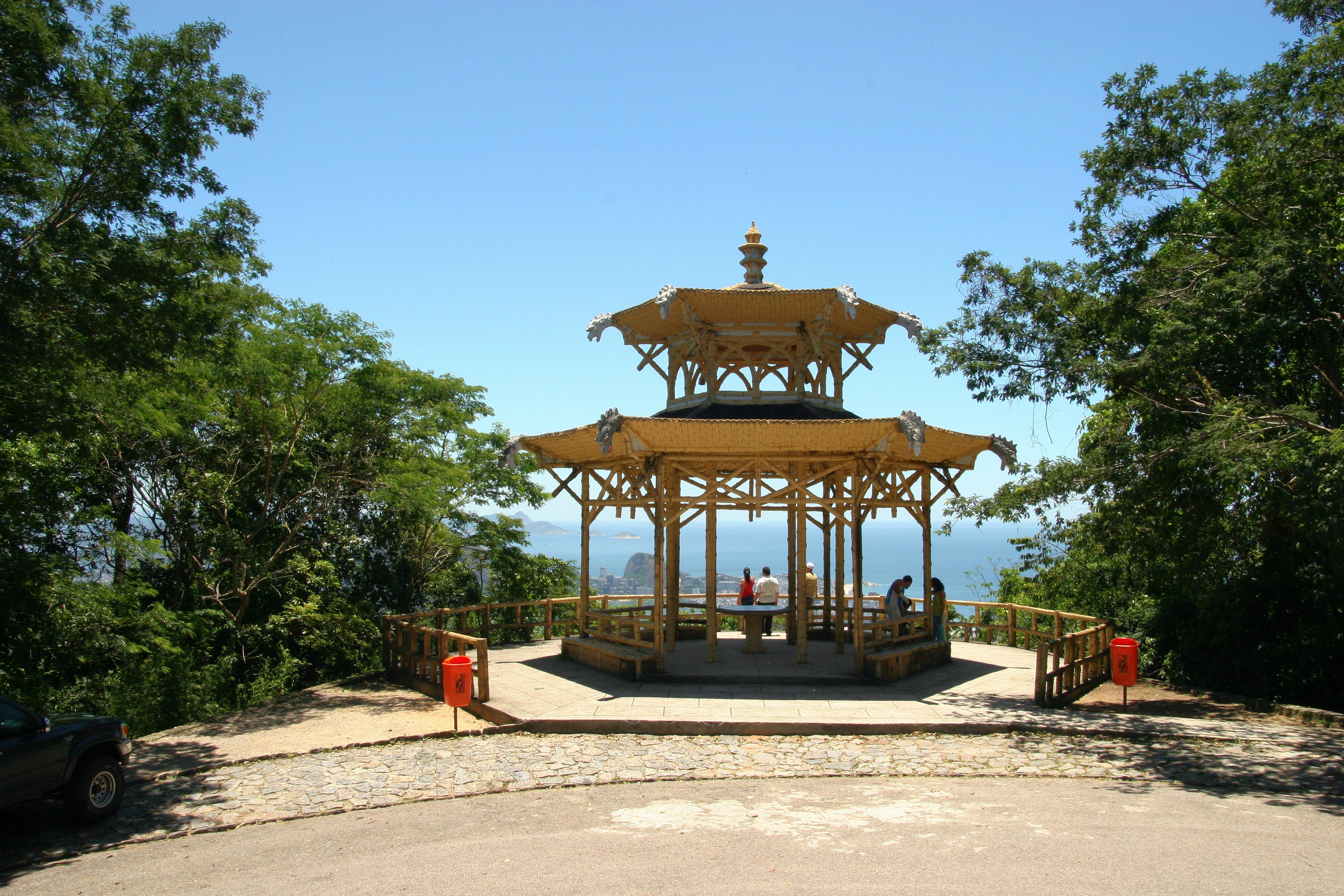 Vista chinesa do Parque Nacional da Tijuca, no Rio de Janeiro
