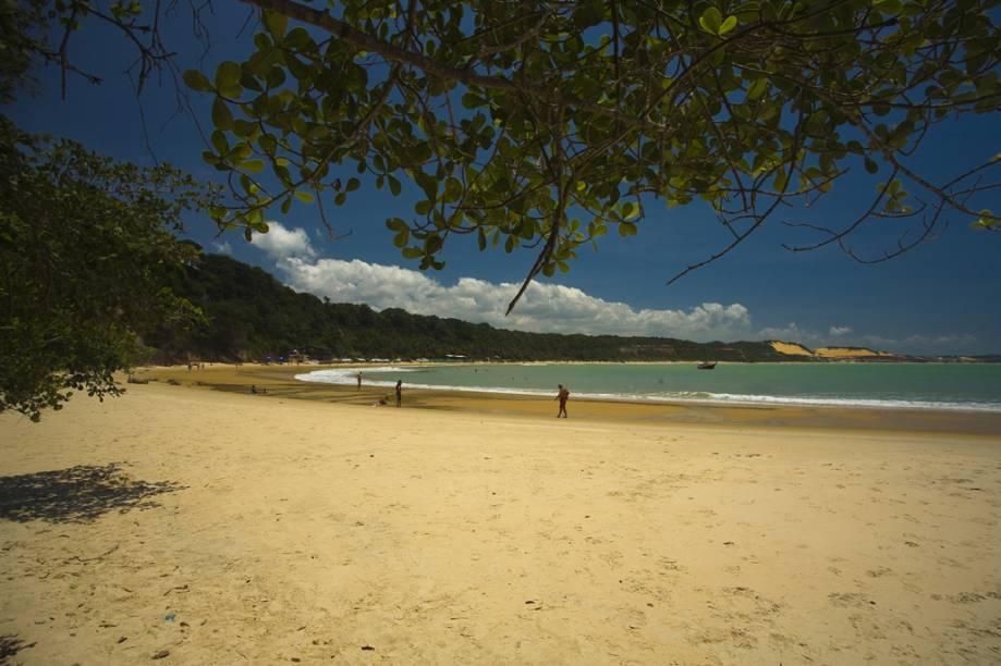 """Localizada em <strong>Tibau do Sul</strong>, <strong>Rio Grande do Norte</strong>, o grande atrativo da <strong>Praia do Madeiro</strong> é a possibilidade de nadar ao lado de golfinhos. <a href=""""https://www.booking.com/searchresults.pt-br.html?aid=332455&lang=pt-br&sid=eedbe6de09e709d664615ac6f1b39a5d&sb=1&src=index&src_elem=sb&error_url=https%3A%2F%2Fwww.booking.com%2Findex.pt-br.html%3Faid%3D332455%3Bsid%3Deedbe6de09e709d664615ac6f1b39a5d%3Bsb_price_type%3Dtotal%26%3B&ss=Praia+do+Madeiro%2C+Tibau+do+Sul%2C+Rio+Grande+do+Norte%2C+Brasil&checkin_monthday=&checkin_month=&checkin_year=&checkout_monthday=&checkout_month=&checkout_year=&no_rooms=1&group_adults=2&group_children=0&from_sf=1&ss_raw=Praia+do+Madeiro+&ac_position=1&ac_langcode=xb&dest_id=255536&dest_type=landmark&search_pageview_id=d5b286a704e100bf&search_selected=true&search_pageview_id=d5b286a704e100bf&ac_suggestion_list_length=5&ac_suggestion_theme_list_length=0&map=1#map_closed"""" target=""""_blank"""" rel=""""noopener""""><em>Busque hospedagens na Praia do Madeiro.</em></a>"""