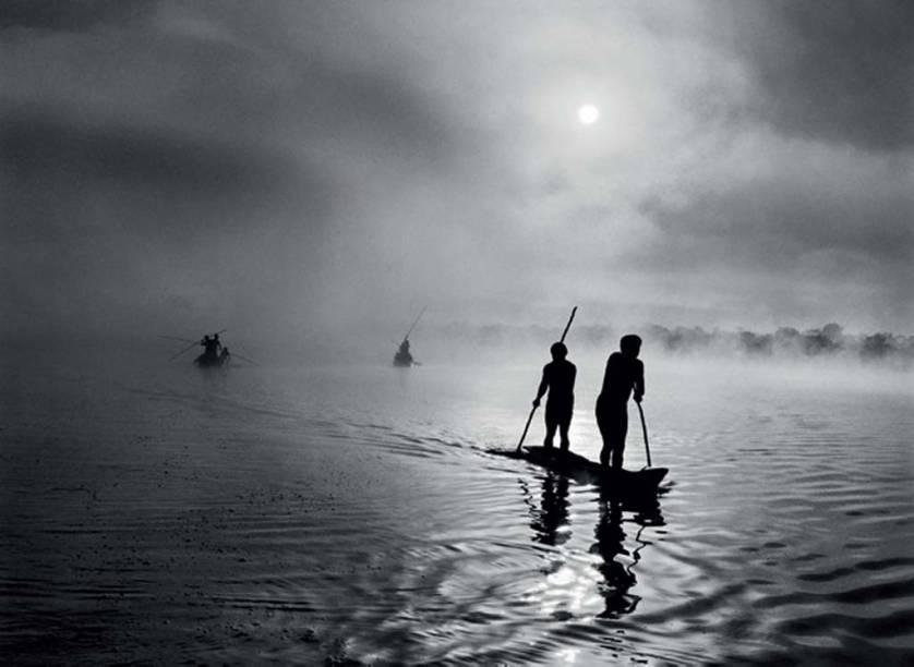 Pescaria da tribo waurá, no Xingu