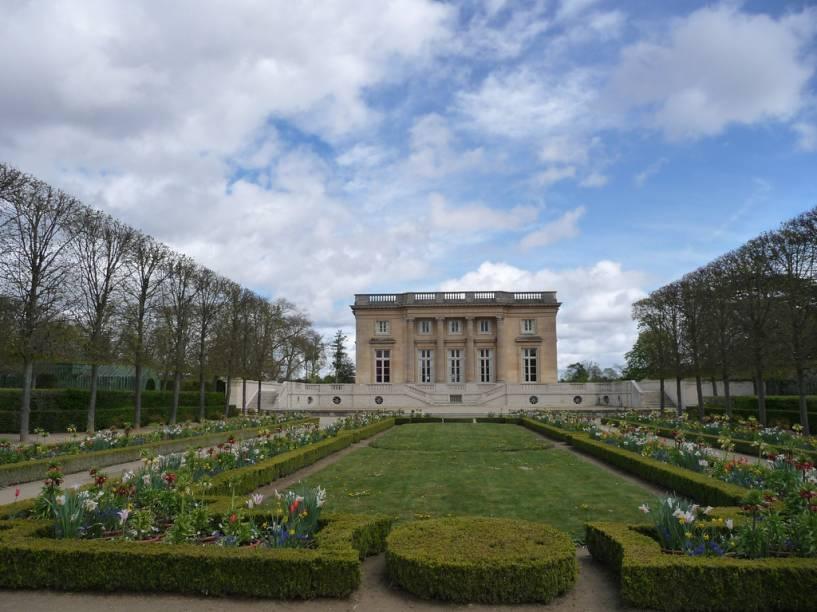 O Petit Trianon era um retiro para Maria Antonieta, fora do palácio principal de Versalhes
