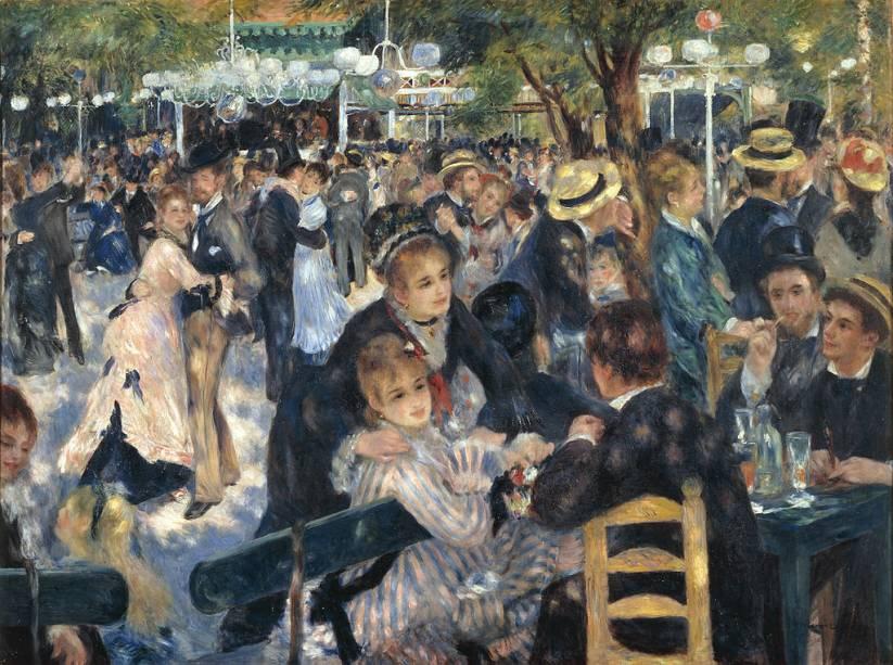 Pierre-Auguste Renoir é o autor de Le Moulin de la Galette, hoje no Musée d'Orsay