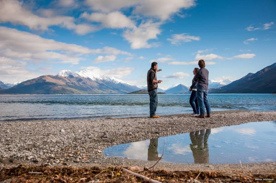 Um passeio rápido a partir de Queenstown são as ilhas Pigeon e Pig, no lago Wakatipu