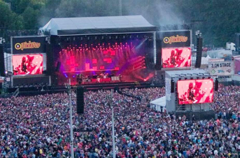 <strong>Pinkpop Festival, Landgraaf </strong>    Com duração de três dias, o festival tem estrutura para camping com até 500.000 pessoas.