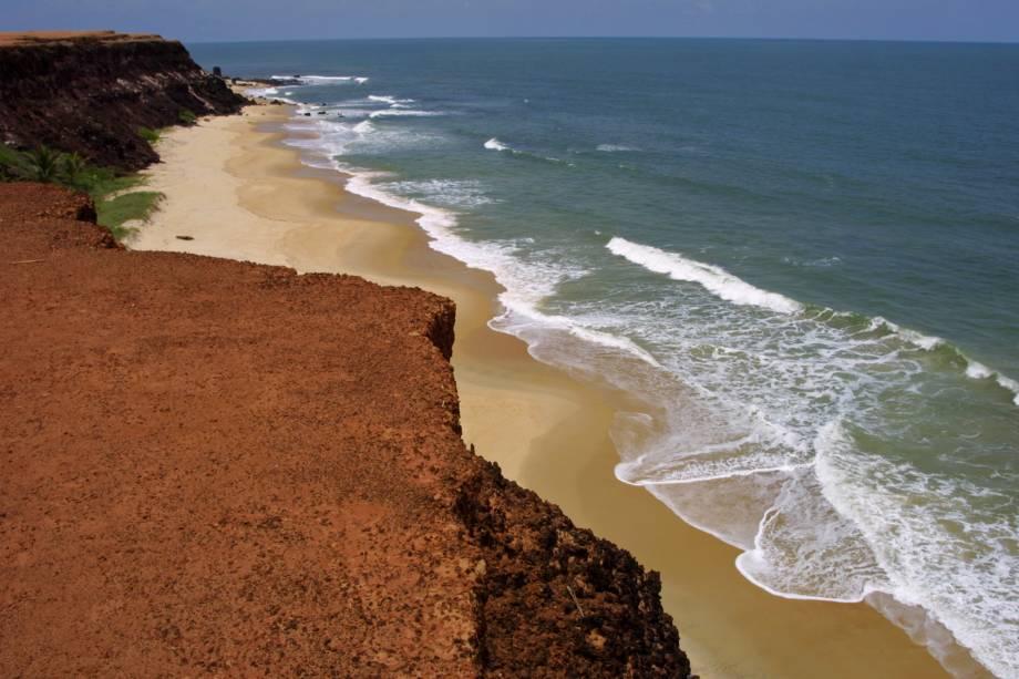 Vista panorâmica da Praia do Centro, em Pipa