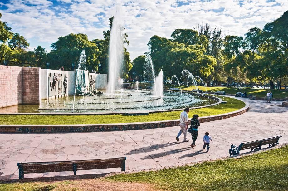 Plaza Independencia, o coração de Mendoza