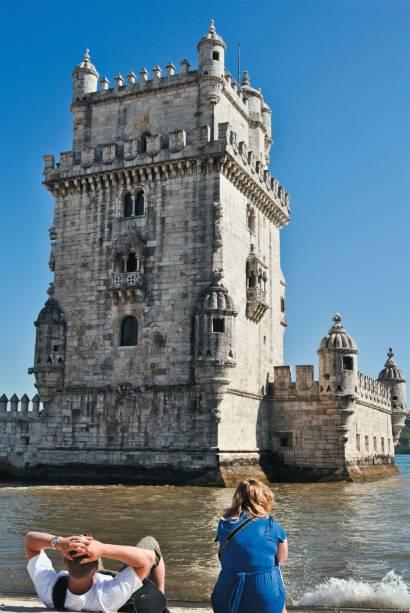 Torre de Belém, no rio Tejo, em Lisboa, Portugal