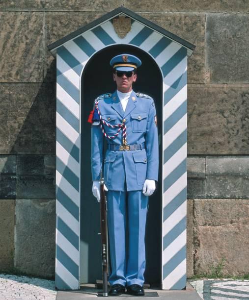 Guarda republicano em Praga, República Tcheca