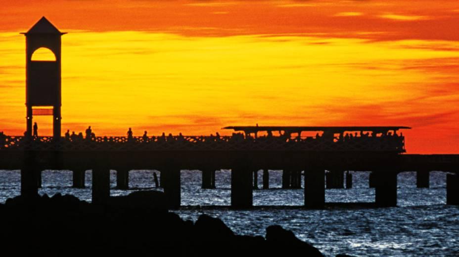 A Praia de Iracema e sua Ponte Metálica, em Fortaleza