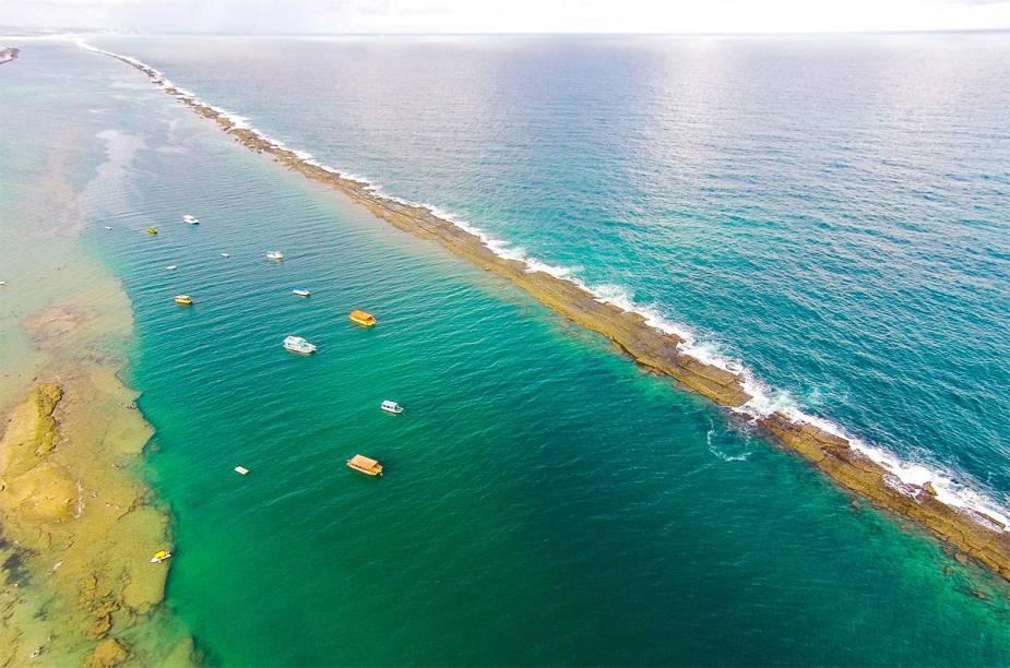 Vista aérea da Praia do Francês