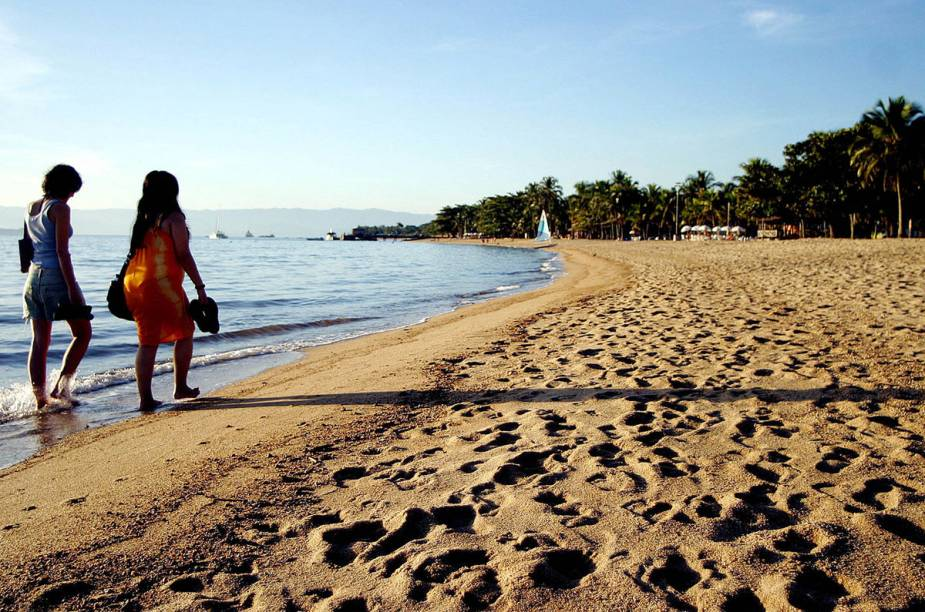 Praia do Perequê, na região central de Ilhabela