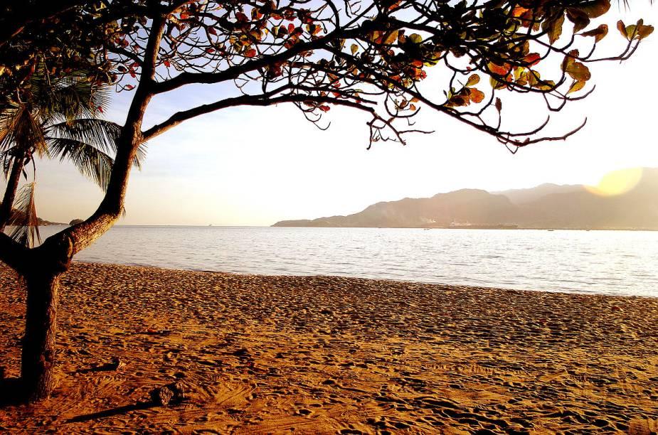 Pousadas, restaurantes, comércio e agências de turismo podem ser encontradas na Praia do Perequê, na região central da cidade