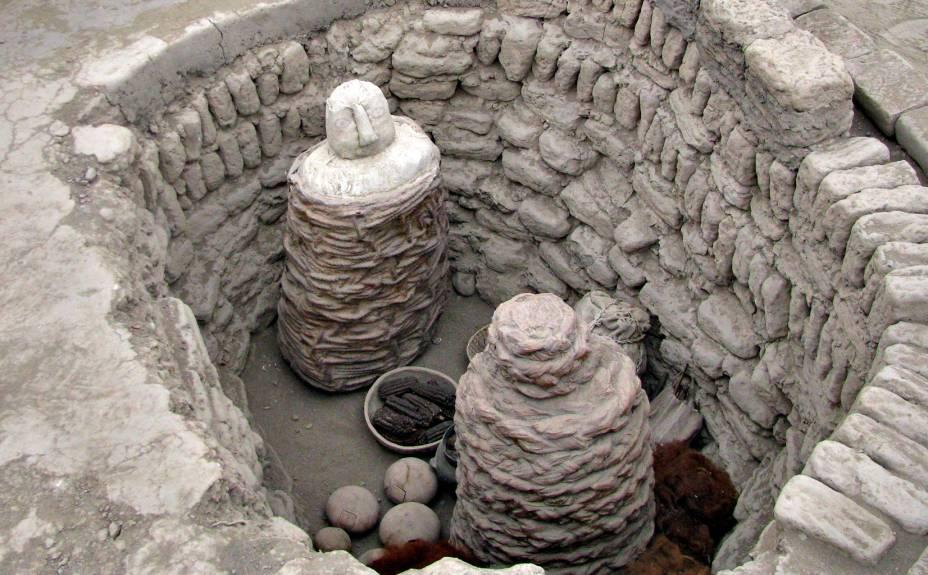 Enterrro wari no sítio arqueológico: cultura dominou os limas depois de 700 d.C. e antes da chegada dos incas