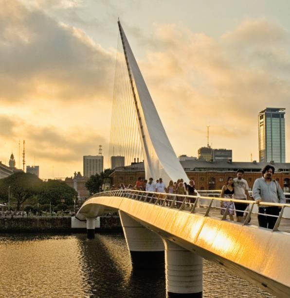 Puente de la Mujer, o toque de Calatrava em Puerto Madero