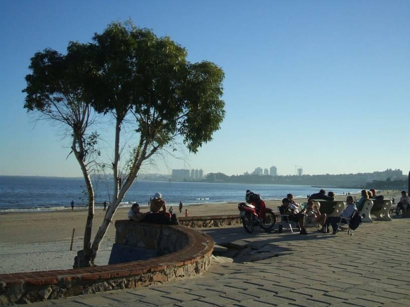 As ramblas são avenidas que margeiam o Rio da Prata, em Montevidéu, no Uruguai