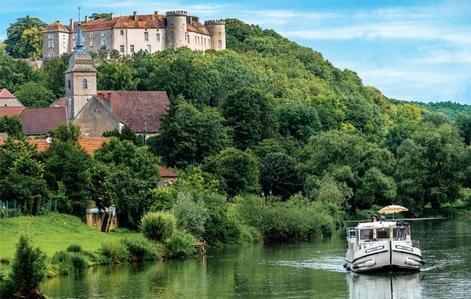 O vilarejo de Ray-sur-Saône, no nordeste da França, rota das pénichettes