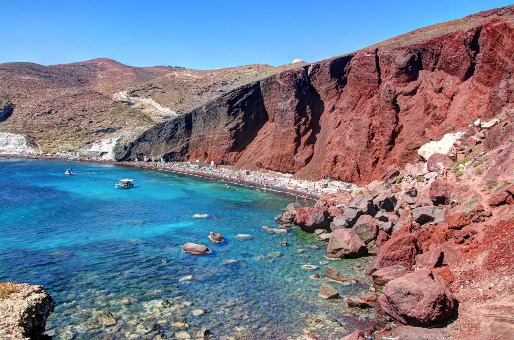 Red Beach Santorini Grécia